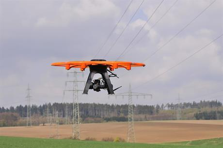 Flying drones could be used to carry out inspections and maintenance, DNV GL suggested (pic credit: Innogy)