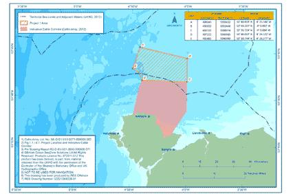 Rhiannon wind farm - 19 kilometres off the island of Anglesey, Wales, and 34 kilometres from the Isle of Man