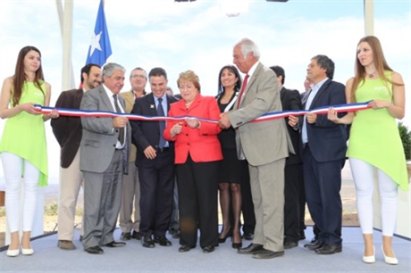 The Los Cururos project being opened by Chilean president Michelle Bachelet