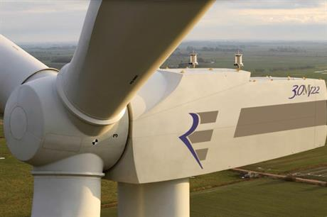 The Repower 3MW-122 turbine