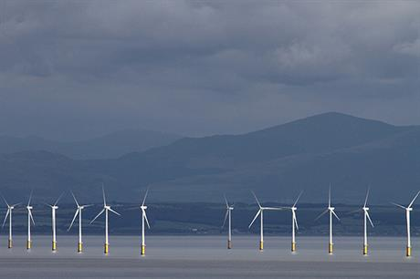 Robin Rigg is Scotland's only operational offshore wind site - the CCC believes Scotland and offshore wind are important to reach carbon reduction targets