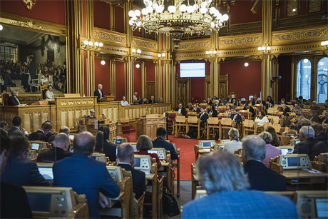 Wind power is being debated in Norway's parliament, the Storting (pic: Stortinget)