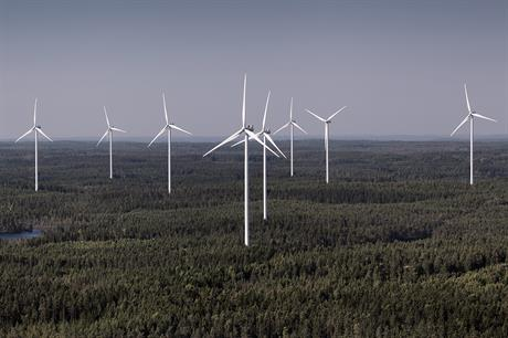 Vestas' V112 (pictured) and V117 turbines will be installed across Statkraft's six Norwegian projects