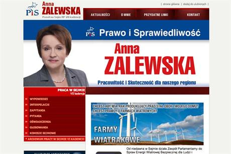 Polish candidates have been pushing an anti-wind message to the electorate
