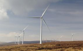 Braes of Doune wind farm near Stirling, Scotland