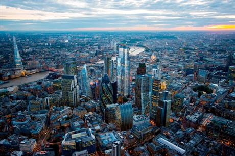 22 Bishopsgate (centre) (pic AXA IM - Real Assets)