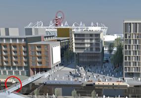 Fish Island: site sits opposite London 2012 stadium
