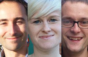 Faces for the future: (l-r) John Wacher, Clodagh McGuirk, Tom Venables