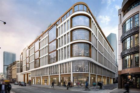An artist's visualisation of the finished 60 London Wall scheme (pic: LaSalle Investment Management)