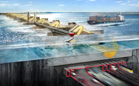 The proposals include a new Thames Barrier Crossing integrating transport connection and energy generation