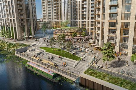 A visualisation of the proposed Abbey Quays development in Barking and Dagenham. Image: Weston Homes