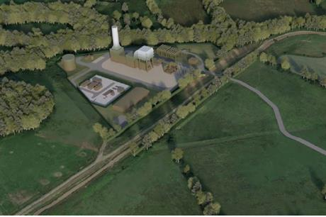 A visualisation of the Abergelli Power Project. Pic: Drax