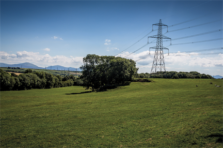Pylons on the existing line. Image: National Grid