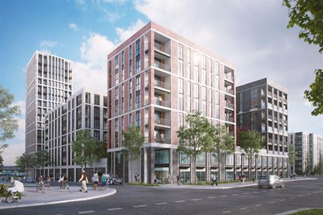 A visualisation of part of the finished Beam Park scheme