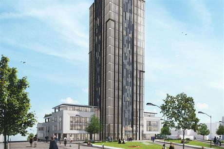 A visualisation of Middlesbrough's Boho X office tower. Pic: Middlesbrough Council.