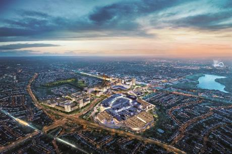 A visualisation of the Brent Cross redevelopment scheme in north London. Pic: Homes England