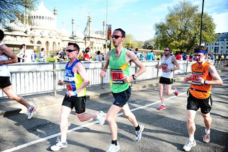Runners taking part in the Brighton Marathon. Image credit: Stephen Elson