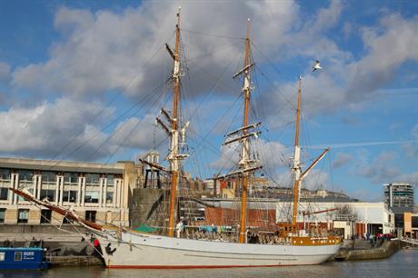 Bristol harbourside. Image: Flickr / Kathryn