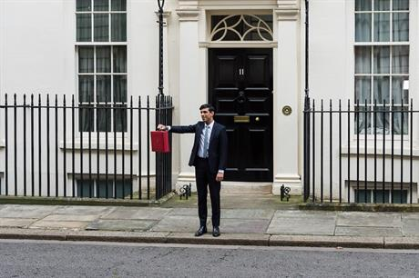 Chancellor Rishi Sunak yesterday. Pic: Getty Images