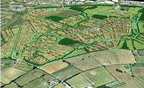 A visualisation of the New Lubsthorpe development. Picture from www.lubbesthorpe.com
