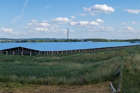A visualisation of the Cleve Hill solar farm in Kent. Pic: Solar Trade Association