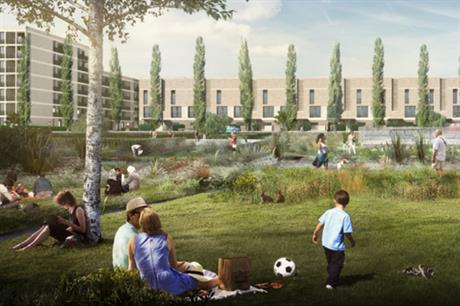 A CGI of plans for the redevelopment of the Grahame Park estate. Image: Choices for Grahame Park / Notting Hill Genesis