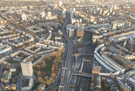 Crossrail work at the Royal Oak Portal in west London