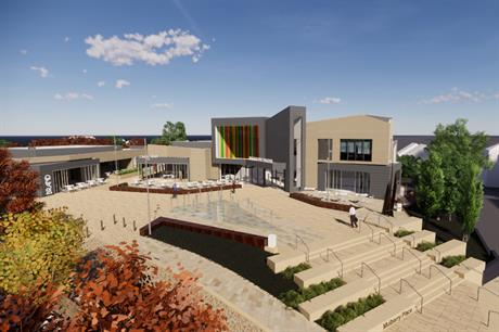 A visualisation of the proposals for the cinema development in Daventry town centre