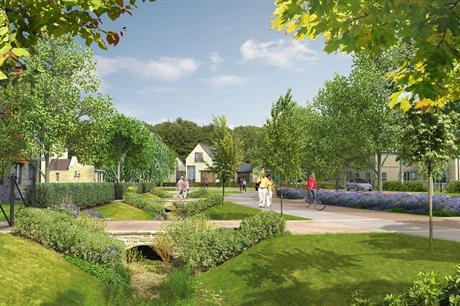 A Visualisation Of The Finished Dissington Garden Village Development