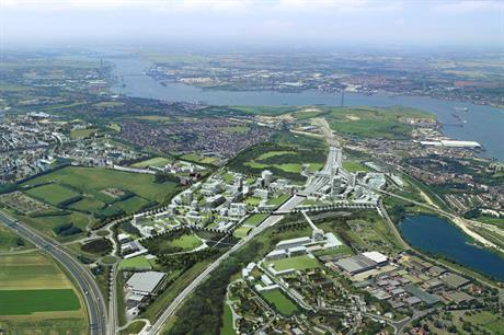 Larger scale settlement: a visualisation of Ebbsfleet Garden City in Kent