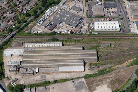 The former Bombardier factory site in Beaver Lane, Ashford. Pic: Ashford Borough Council