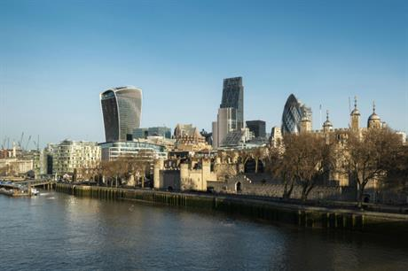 Skyscrapers in London. Image: Historic England / Chris Redgrave