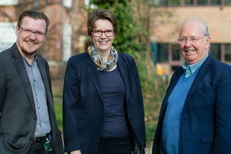 Key players: Peter Forest, consultant (left); Penelope Tollitt, head of planning and sustainability (centre); and David Johncock, cabinet member for planning (right)