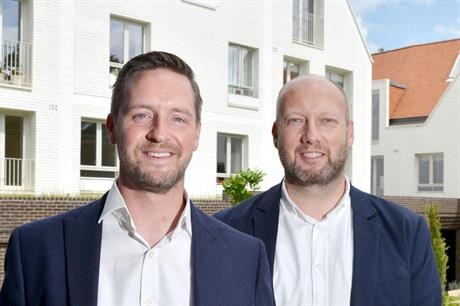 Team: Barton Willmore planning director Justin Kenworthy (left) and RCKa director Tim Riley (right) worked together to secure permission on appeal for an extra-care facility on a constrained site in Harpenden town centre