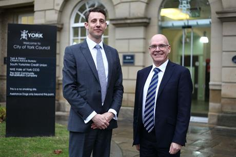 Partnership: Neil Jones (left) of Rapleys and City of York Council's Mike Slater used a viability review mechanism to agree affordable homes delivery on a former British Sugar site