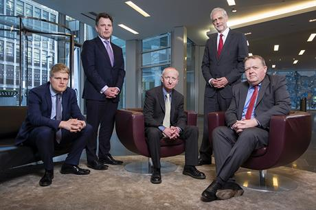 L-R: Matthew Fox, associate, Pinsent Masons; Robbie Owen, partner and head of infrastructure planning and government affairs, Pinsent Masons; Martin Friend, director, Vincent and Gorbing; John Speakman, senior asset manager, property, Port of Tilbury