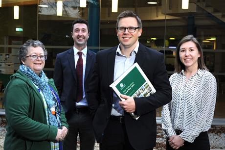 West Oxfordshire's planning team (left to right): housing enabling manager Ffyona MacEwan, planning policy and implementation officer Andrew Thomson, Chris Hargraves, planning officer Claire Bromley