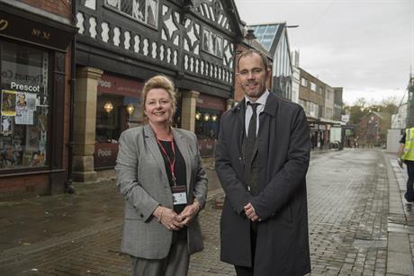 Masterplan team: (left-to-right) Sue Callister, regeneration programme manager at Knowsley Metropolitan Borough Council; and Bernard Greep, partner at Peter Brett Associates