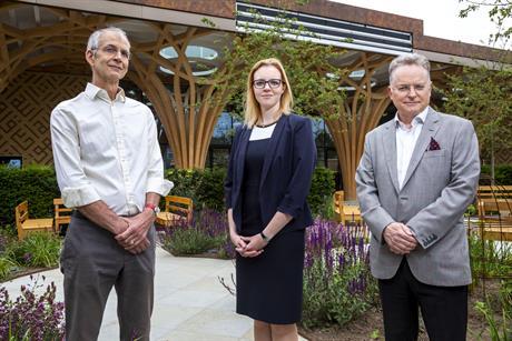 Left to right: Tony Collins, principal planning officer, Greater Cambridge Shared Planning Service; Georgina Pickett, principal planner, Bidwells; Rob Hopwood, planning partner, Bidwells