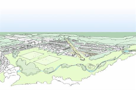 An artist's impression of plans for the Hengrove Park regeneration scheme