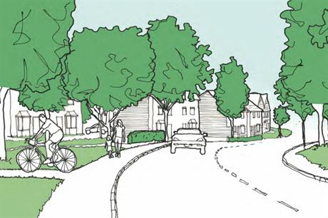 An artist's impression of plans for 40 homes in Highnam.