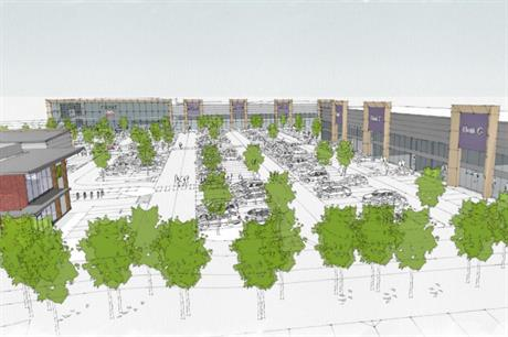 An artist's impression of plans for the Moor Exchange Retail Park. Image: CPG Development Projects and Growen Estates