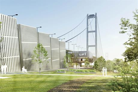 An artist's visualisation of how the finished scheme may have looked