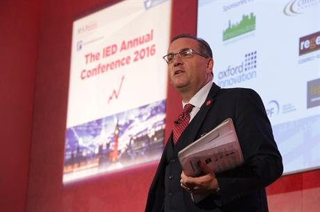 John Clancy, the leader of Birmingham City Council, at the IED Annual Conference