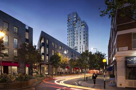 A visualisation of the 17-storey tower. Image: Notting Hill Gate KCS