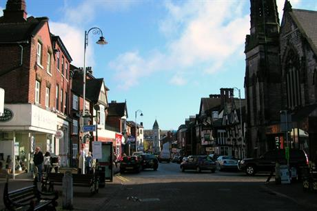 Leek: administrative centre of Staffordshire Moorlands district (picture by Charlesdrakew)