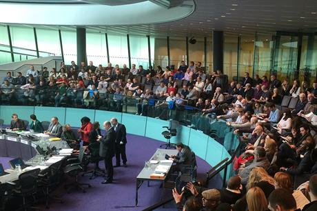 The London Plan examination in public at City Hall earlier this year. Pic: GLA