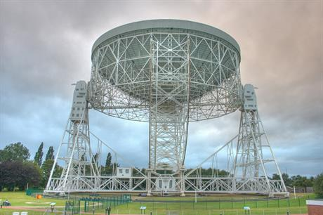 The Lovell Telescope at Jodrell Bank Observatory, Cheshire. Pic: Mike Peel, Jodrell Bank Centre for Astrophysics, University of Manchester