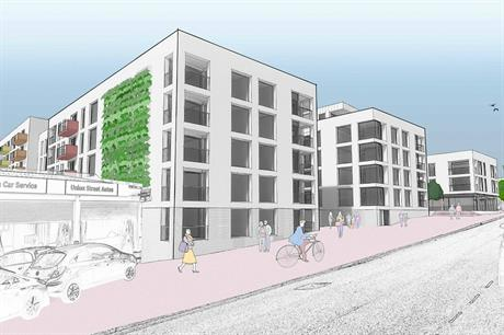 A visualisation of the Luton town centre scheme. Pic: Grammont Group