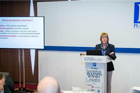 Marilyn Smith, chief planning officer at the London Borough of Hounslow, at the National Planning Summit